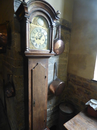 Canons Ashby House - Great Kitchen - Grandfather clock