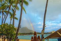 Rainbow over Waikiki Beach - Honolulu, Oahu, Hawaii (J.L. Ramsaur Photography) Tags: jlrphotography nikond7200 nikon d7200 photography photo oahuhi 25thanniversary honolulucounty hawaii 2019 engineerswithcameras islandsofhawaii photographyforgod hawaiianislands islandphotography screamofthephotographer ibeauty jlramsaurphotography photograph pic oahu tennesseephotographer oahuhawaii 25years anniversarytrip bucketlisttrip thegatheringplace 3rdlargesthawaiianisland 20thlargestislandintheunitedstates therainbowstate rainbow palmtrees palmtree surfboards faithsurfschool diamondhead rainbowoverwaikikibeach waikikibeach waikiki honoluluhawaii honoluluhi dukes landscape southernlandscape nature outdoors god'sartwork nature'spaintbrush god'screation wherethemapturnsblue ilovethebeach ocean beach bluewater blueoceanwater sea waves sand pacificocean bluesky deepbluesky beautifulsky whiteclouds clouds sky skyabove allskyandclouds
