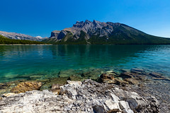 Lake Minnewanka, Banff National Park (Chris-Creations) Tags: 20180706226 lake park blue water serene landscape canada alberta