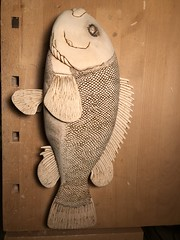2018-03-20 00.13.54 (Dr.DeNo) Tags: 2018 spring black fish tautog wood carving carver whittle art marine burn