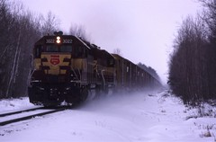 Rocky Run (ujka4) Tags: wisconsincentral wc wcl gp40 3022 rockyrun wisconsin wi snow winter