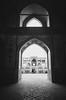 Agha Bozorg Mosque (Ash and Debris) Tags: kashan women blackandwhite islam people blacknwhite light mosque bw iran monochrome girls architecture muslims door bnw arch