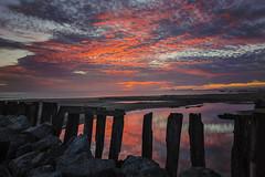 Fire in the Sky_Rio Del Mar (waves_and_wonders) Tags: sunset pink blue red sky vivid seascape dusk aptos santa cruz rio del mar