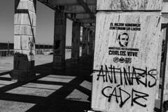 Carlos Vive (Rasande Tyskar) Tags: spain cadiz espagna spanien schatten light shades shadow black white bw monochrome gang alley fluchtpunkt vanishing point calos palomino murder nazi anti fashists antifa