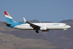 LX-LGV Luxair 737-8C9. Las Palmas 25/09/2016 (Tu154Dave) Tags: lxlgv luxair boeing 737 737800 7378c9 lpa las palmas canaries airport aircraft