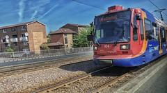Supertram 104 in Sheffield. (ManOfYorkshire) Tags: sheffield stagecoach supertram tram tramway 104 siemens duwag ringroad network system rails road running