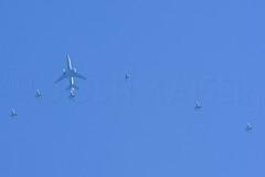 QUAKE AND FRIENDS (Kaiserjp) Tags: 830078 dc10 f16 f35 f35a kc10 kc10a quake53 travis usaf tanker military aviation nkawtg jet avgeek aerialrefueling formation