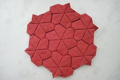 Floret Tile (Arseni Ko) Tags: origami pattern paper tesselation geometry symmetry design