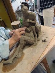 #GrandPublic/Sculpture, terre/ E. Mies Wallet (esamCaenCherbourg) Tags: esamcaencherbourg grandpubliccaen 201819 elisabethmieswallet atelieradultes modelage esamsculptureterreemw