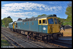 No 33111 11th May 2019 Swanage Railway Diesel Gala (Ian Sharman 1963) Tags: no 33111 11th may 2019 swanage railway diesel gala class 33 crompton station engine rail railways train trains loco locomotive passenger heritage line river frome corfe castle