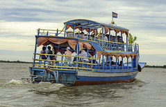 Tonle Sap Lake Tour Boat (oldbourbonguy) Tags: cambodia siemreap siemreapprovince tourboat tonlesaplake