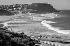 Afternoon surf (OzzRod (on the wallaby)) Tags: pentax k5 smcpentaxda18135mmf3556 coast seashore beach waves surf ripcurrent headland merewether dixonpark cookshill newcastle monochrome blackandwhite seascape