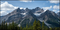 The Mountains (greenschist) Tags: alberta mountains trees canada glacier clouds banffnationalpark forest