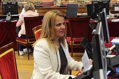 Esther del Brio Gonzalez, senadora electa del Partido Popular por Salamanca, entrega su credencial en el Senado