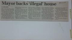 """Mayor backs """"illegal"""" house (Maylands Historical) Tags: cityofbayswater mayorterencekenyon mrtsavourelos stonestreet"""