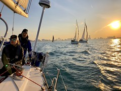 And so, the 2019 race season begins in Chicago (virtualphotographers) Tags: virtualphotographers sunset lakemichigan lake sailing chicago ccyc chicagocorinthianyachtclub race lakemichiganmontrose