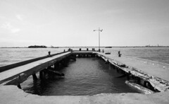 Sunset Park (neilsonabeel) Tags: nikonfe2 nikon nikkor film analogue blackandwhite pier abandoned brooklyn newyorkcity sunsetpark