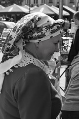 Dębica Folk Event IMG_1559.jpg b.jpg bw (david.neville2776) Tags: dębica podkarpackie folk event traditional costumes portrait headscarf bw