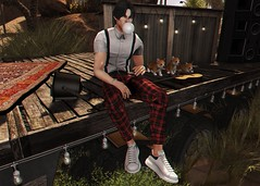 LOTD 499 (Brendo Schneuta) Tags: taketomi complex bleich wrong suspenders shirt pants sneakers poses pose fameshed anthem mancave event events decoration men male boy moda fashion style estilo releases keepcalm blogger bloggersl blog secondlifeblog second sl secondlife bento game avatar virtual