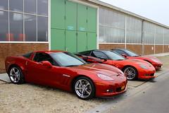 2007 Chevrolet Corvette Z06 + 2005 Chevrolet Corvette + 2011 Chevrolet Corvette Z16 (Dirk A.) Tags: np811r 2011 chevrolet corvette z16 2005 2007 z06 sidecode9 jj588r sidecode6 34xdvv onk