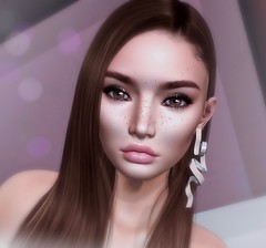 Korina (Trixie Pinelli) Tags: lelutka korina bento glamaffair uber doux lagyo meshhead skinapplier accessories earrings jewelry hair hairstyle hairdressing lumipro secondlife sl blogger blog model modelling freckles portrait headshot photography photographer