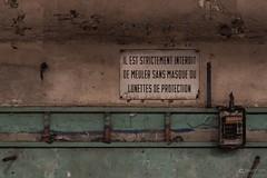 Wear glasses and masque (deadplaces-de) Tags: hf6 abandoned steelmill blastfurnace liege