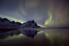 Northern Lights at Stokksnes (Sophie Carr Photography) Tags: northernlights auroraborealis iceland stokksnes nightphotography vestrahorn