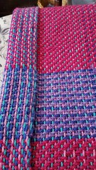 Both sides of 3 shaft twill fabric woven on rigid heddle loom (Sweet Annie Woods) Tags: