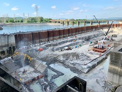 Work continues at Chickamauga Lock Replacement Project (NashvilleCorps) Tags: chickamaugalockreplacementproject chickamaugalock construction usace corpsofengineers nashvilledistrict spillway spillwayremoval sarahwiles tva tennesseevalleyauthority aecom