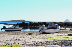 Kildonan harbour on Arran (Dave Russell (1.5 million views thanks)) Tags: kildonan harbor harbour isle island arran clyde west western scotland sand beach boat boats ship ships vessel vessels port pladda ailsa craig marine maritime water sea ocean firth tide tidal out outdoor travel tourism photo photograph photography canon eos eos7d 7d mooring moored