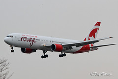 G-GEOU landing YYZ (320-ROC) Tags: aircanadarouge cgeou boeing767 boeing767300 boeing767300er boeing767375er boeing 767 767300 767300er 767375er b763 yyz cyyz torontointernationalairport torontopearsoninternationalairport torontoairport pearsonairport lesterbpearsoninternationalairport toronto ontario canada