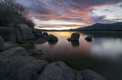Sunset, Manzanares el Real (Alex Aguirre Bueno) Tags: lake agua sunset anochecer puesta de sol luz pantano reflection light manzanares el real santillana