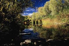 Sespe Creek 3 (wlwarner) Tags: nikon 6006 polarizing sespe wilderness stillness silence light dust watervapor film