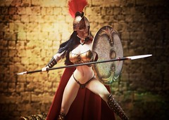 Spartan 5 (Mr Action Figure) Tags: 16scale 16 phicen tbleague seamless seamlessfigure female femalefigure spartan warrior armor spear shield helmet cape thong sword battle greek roman verycooltoys hottoys doll toy