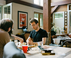 A game of Chess (GPhace) Tags: 120mm 2019 chess kodak mamiya mediumformat portra400 rb67pros upstatenewyork bachelorparty tripod