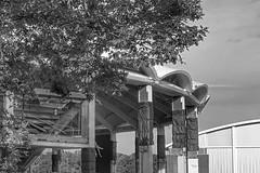 University Hall (davekrovetz) Tags: iconic iphone monochrome virginia charlottesville demolition arena uva