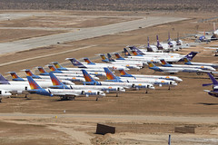 Allegiants at Victorville - California (ColinParker777) Tags: allegiant boeing mcdonnell douglas 757 b757 757200 b757200 md80 md81 md82 md83 md88 aircraft airliner airplane plane fly flying store stored storage scrap scrapping vcv kvcv victorville southern calfornia logistics airport socal aal g4 airline airlines air usa united states america canon 5ds 5dsr 100400 mkii mk2 mark2 markii l lens zoom telephoto pro