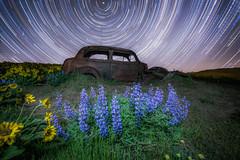 final starstax-3 (Justin Knott) Tags: dalles mountain ranch oregon washington columbia gorge flowers long exposure star trails milky way car balsamroot lupine