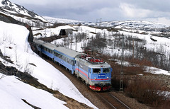 Connex Rc6 1333 + Connex trein 91 - Katterjokk (Rene_Potsdam) Tags: sverige katterjokk europe europa rc6 connex railroad treinen trains trenes züge skandinavien sweden
