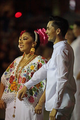 Traditional Dance Couple (peterkelly) Tags: digital canon 6d northamerica gadventures mayandiscovery mexico yucatán mérida plazagrande traditional clothing dance dancer dancing celebration smile smiling