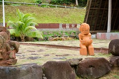 Tiki in Nuku Hiva (jjknitis) Tags: 2019 cruise eurodam hollandamerica island march30 marquesas nukuhiva polynesia southpacific statue tiki