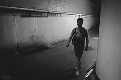 Stranger. (Andy @ Pang Ket Vui ( shootx2 )) Tags: stranger bangkok thailand fujifilm x100f wclx100ii street black white photography alley