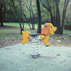 (cedricmarino) Tags: analog film square medium format portra400 6x6 yashica mat 124g playground parc memory