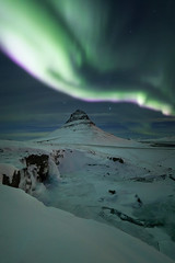 Mt. Kirkjufell (sven483) Tags: kirkjufell kirkjufellfoss grundarfjordur snaefellsnes iceland northern lights aurora borealis nightscape night astro green snow