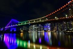 Story Bridge viewed from Howard Smith Wharves, Brisbane, Australia (nealemaynard) Tags: storybridge viewsofbrisbane howardsmithwharves nikon 14mm d500 escape travel reflection urban