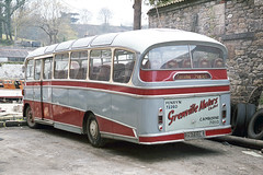 Grenville Motors Ltd .  Troon , Cornwall . 797COE . Penryn Garage , Cornwall . 24th-April-1977 . (AndrewHA's) Tags: penryn falmouth cornwall grenville motors bedford sb harrington 797coe back rear end second hand bowen birmingham bus coach crusader