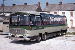 Roselyn Coaches ( L J Ede ) . Par , Cornwall . SPT197E . Par Garage , Cornwall . July-1972 . (AndrewHA's) Tags: cornwall bus coach roselyn coaches ede par bedford val duple northern viceroy 37 spt197e second hand