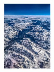 Swiss Alps near Zermatt from seven miles above. (Richard Murrin Art) Tags: swiss alps near zermatt from seven miles above switzerland snow mountain richard murrin art