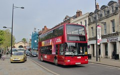 HW52 EPV, Salisbury Reds Volvo 1997, Salisbury, 7th. May 2019. (Crewcastrian) Tags: salisbury buses transport salisburyreds goaheadgroup volvo plaxton president hw52epv 1997