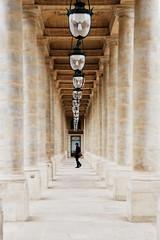 Palais Royal Perspective (freephysique) Tags: palais royal paris colonne perspective architecture pierre monument lampadaire lampe lustre couloir nikon ville urbain urban